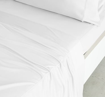 SHEEX Luxury Copper Sheet Set with 2 Pillowcases, PRO+Ionic Copper Fabric, White, Queen