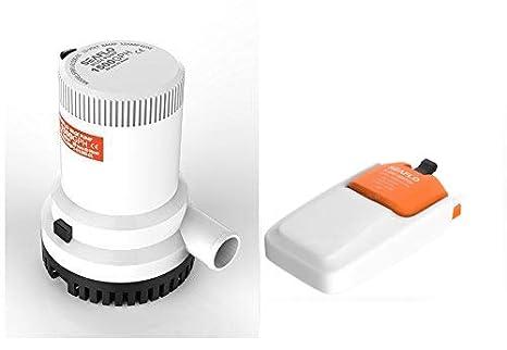 Seaflo 12 V 1500 GPH bomba de achique y automático interruptor de flotador: Amazon.es: Deportes y aire libre
