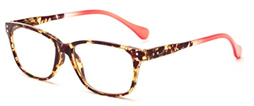 Readers.com The Garden +1.75 Tortoise/Pink Tortoise with Colorful Ombre Temple Fade Retro Square Reading - Garden Cougars