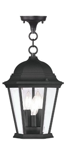 Livex Lighting 7564-04 Hamilton 3 Light Outdoor Hanging Lantern, Black Hamilton 4 Light Bath