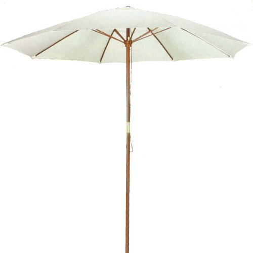9' Natural Shade Patio Umbrella - Outdoor Wooden Market Umbrella Product SKU: UB50020 by PSW - Patio Umbrellas and Bases