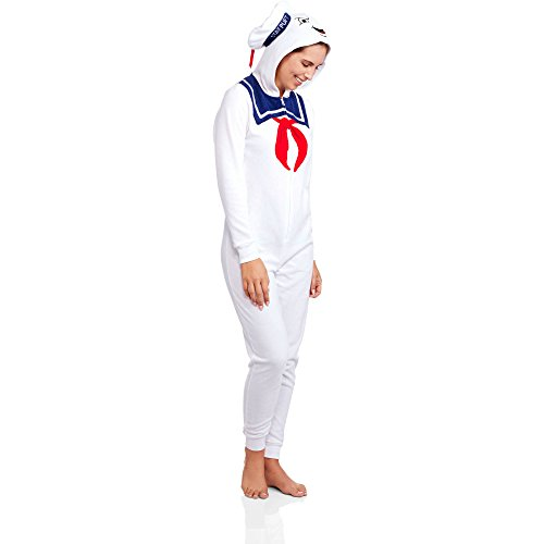 [Ghostbusters Stay Puft Marshmellow Women's Union Suit Pajamas (Large 11/13)] (Ghostbusters Womens Costume)