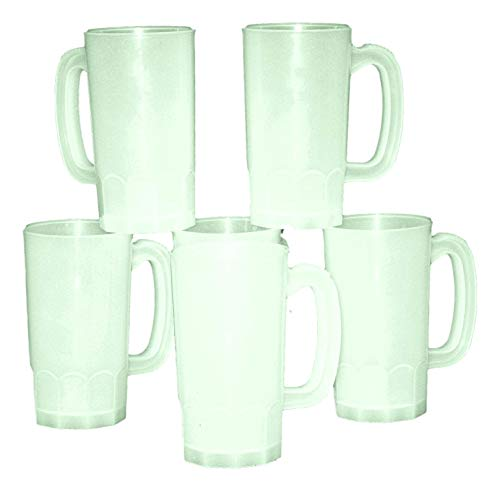 Talisman, Plastic Beer Mugs, 1 Pint, Pack 10, Color Frosted -