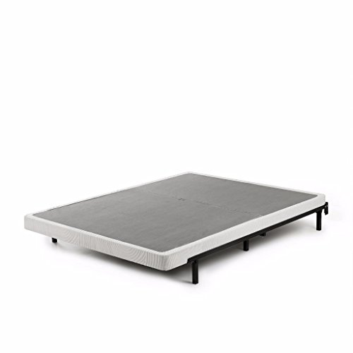 Zinus Jayanna 4 Inch Low Profile BiFold Box Spring / Folding Mattress Foundation / Strong Steel Structure / No Assembly Required, Queen, gray