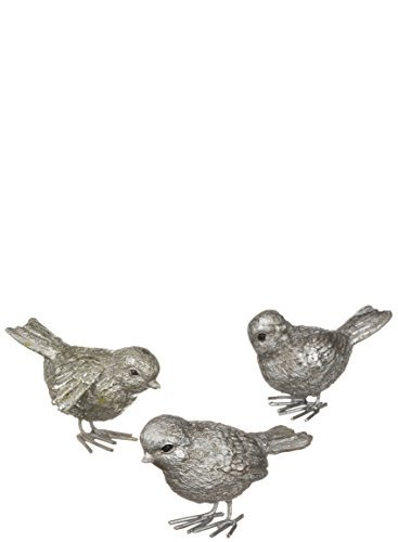 Sullivans Resin Metallic Birds, Assorted Set of 3 (Home For Bird Decor)