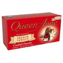 Queen Anne Milk Chocolate French Vanilla Cordial Cherries 6.6 Oz Box