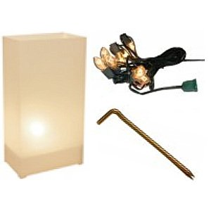 White Luminarias Electric Kit - pack of 40 by LB Inc.