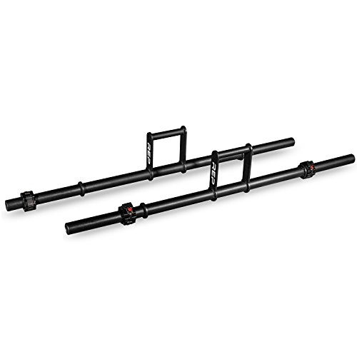 Rep Farmer's Walk Handles (Pair) for Strongman Training with Collars by Rep Fitness
