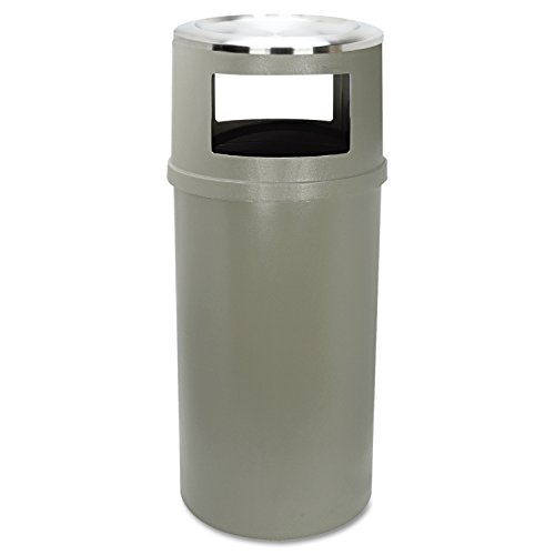 Rubbermaid Commercial FG818288BEIG Ash/Trash Classic Container Without Doors, Round, 25-Gallon, Beige