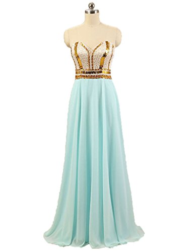 Evening Green Wedding Rose Amore Sparkle Chiffon Gold Bridal Dresses Sweetheart aCa06wSq