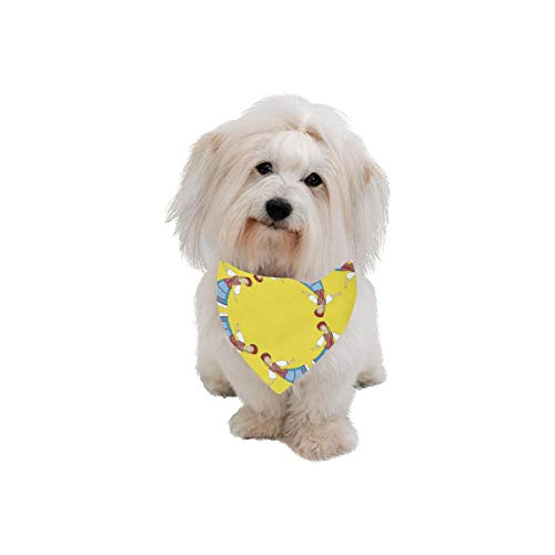 Dog Scarf Ethnic Dance National Customs Printing Dog for sale  Delivered anywhere in Canada