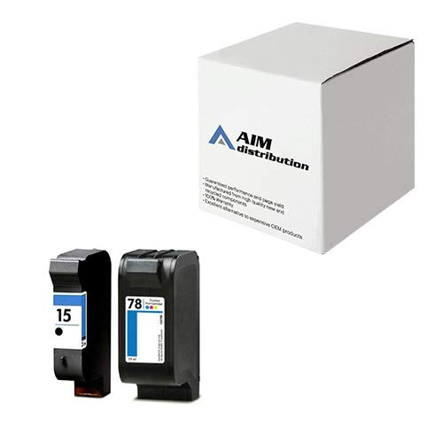 AIM Compatible Replacement for HP NO. 15/78 Inkjet Combo Pack (Black/Color) (C8789FN) - Generic
