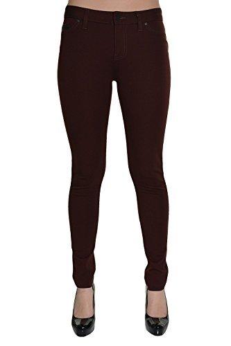 Calvin Klein Women's Stretch Ponte Pants, Merlot, 4