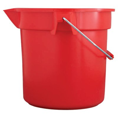(Rubbermaid Commercial 2963RED BRUTE Round Utility Pail 10qt Red)