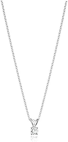 14k Gold Round-Cut Diamond Pendant Necklace (J-Okay Color, I2-I3 Clarity)