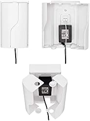 Safety Innovations Twin Door Babyproof Outlet Cover Box for Babyproofing Outlets - More Interior Space for Ext
