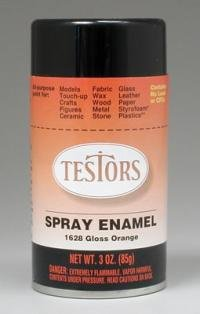 Orange Spray Testors Enamel Plastic Model Spray Paint
