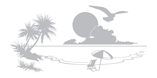 - Seagull Sunset - Coastal Design Series - Etched Decal - For Shower Doors, Glass Doors and Windows - 14