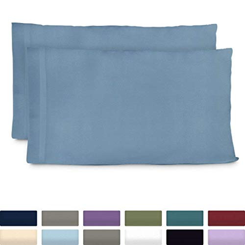 Cosy House Collection Premium Bamboo Pillowcases - Standard, Baby Blue Pillow Case Set of 2 - Ultra Soft & Cool Hypoallergenic Blend from Natural Bamboo Fiber