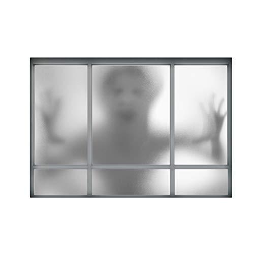 (BESTOYARD Halloween Wall Decals Horrible 3D Ghost Creative Removable Stickers Wallpaper Background for Living Room Bedroom)