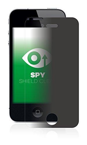 upscreen Spy Shield Clear Pellicola Protettiva Privacy Apple iPhone 4S - Protezione Privacy, Antigraffio