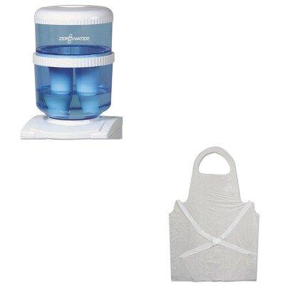 KITAVAZJ003ISBWK390 - Value Kit - Avanti ZeroWater Replacement Filtering Bottle (AVAZJ003IS) and Boardwalk Disposable Apron (BWK390) by Avanti
