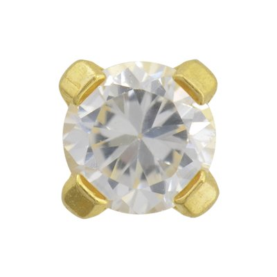 STUDEX SENSITIVE GOLD PLATED 3MM CUBIC Z - Piercing Studs 24k Gold Plated Shopping Results