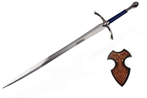Glamdring Sword - A Hobbit Lord of the Rings LORT Sword Medieval Crusader Glamdring Wizard Sword of Gandalf Display Plaque