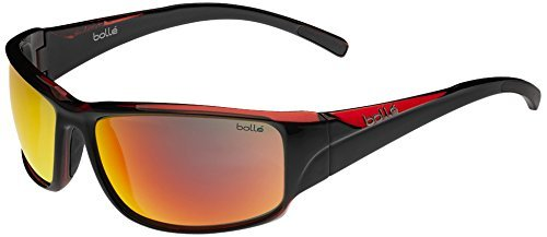 Bolle Keelback Sunglasses, TNS Fire, Shiny Black/Translucent Red