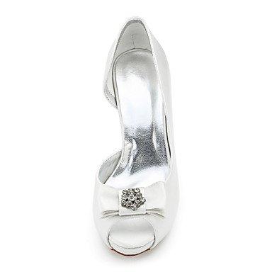 Soie amp; Evénement Printemps Femme ivory à Confort Paillette FleurTalon Brillante Soirée Chaussures Mariage Talons LvYuan Habillé ggx Automne Confort 0qYOAx77