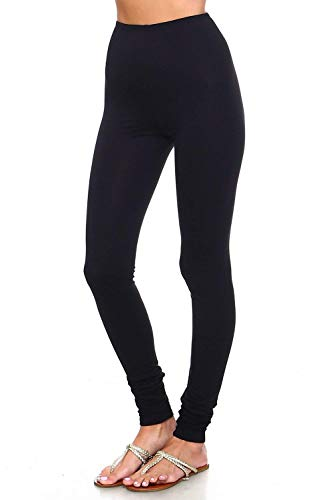 Simplicitie Women's Premium Ultra Soft High Waist Leggings - Regular and Plus Size - Black - Made in USA by SimplicitieUSA