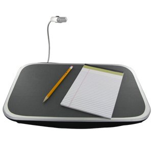 Perfect Solutions Lap Desk with Adjustable Light - PS5287BK by EB BRAND