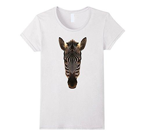 Womens Zebra Face Jungle Theme Party Zoo Animal Costume T-Shirt Small (Female Jungle Themed Costume)