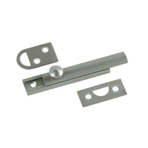 Belwith Products 1849-SN Satin Nickel Finish Slide Surface Door Bolt (Solid Brass), -