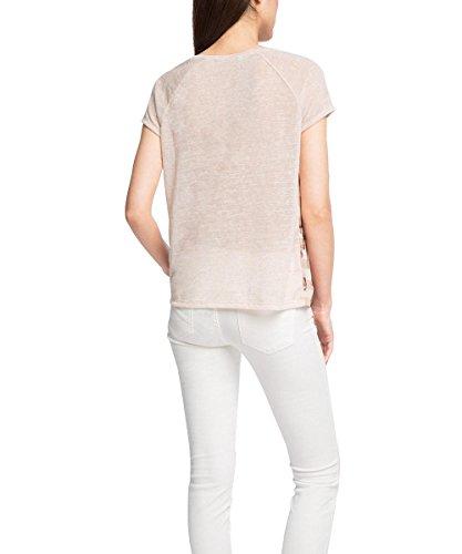 edc by Esprit Mit Print, Camiseta para Mujer Rosa (NUDE 685)
