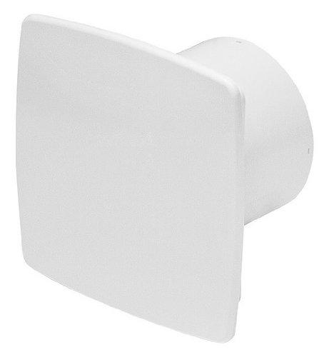 Badlüfter Ø 100 mm Frontplatte weiß WNB mit Rückstauklappe und Feuchtigkeitssensor / Hygrostat mit Timer / Nachlaufegelung Lüfter Ventilator Deckenlüfter Front Wandlüfter Badventilator Ventilator Einbaulüfter Bad