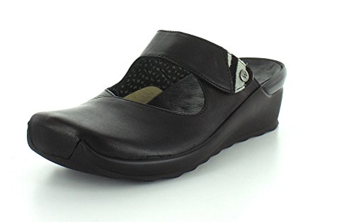 Up Comfort Velvet Wolky Black Clogs aERwU