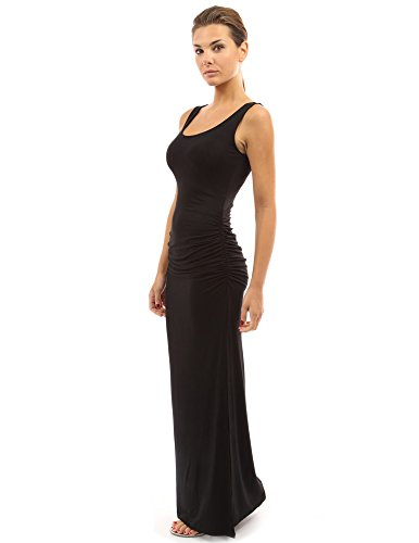 (PattyBoutik Women Sleeveless Summer Maxi Dress (Black Medium))