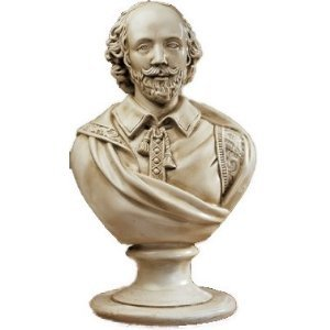 (William Shakespeare Statue Home Garden Sculptural Bust (the digital)