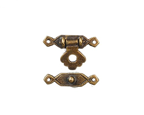 - Dollhouse Miniature 1:12 Antique Brass Trunk Lock by Town Square Miniatures