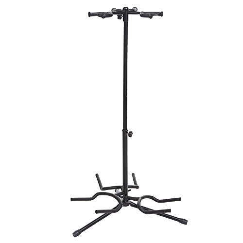 coocheer triple guitar stand tripod adjustable multiple guitar stand for acoustic guitar. Black Bedroom Furniture Sets. Home Design Ideas