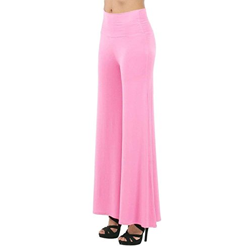 Style stil Bobolily Marlene Long Femme Rose Pantalon Libre Taille Temps Élastische Tissu Tendance Élégant Élastique Printemps Automne Pure Couleur TOrwTq