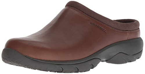 - Merrell Men's Encore REXTON Leather AC+ Clog, Dark Earth, 11.5 M US