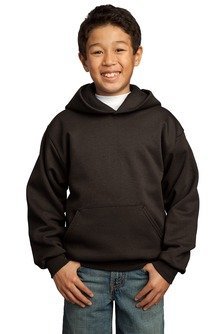 Port & Company - Youth Pullover Hooded Fleece. PC90YH - Large - Dark Chocolate by PORT AND COMPANY