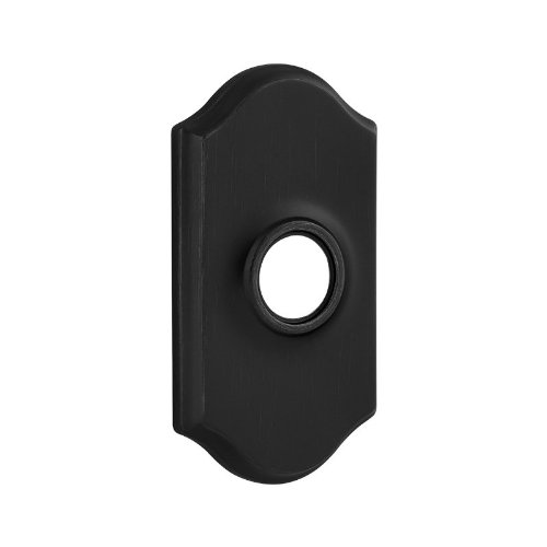 Kwikset 83319 Arched Rose Cover For Reversible Levers (Lever Not Included), Iron Black (Door Gate Iron Arched)