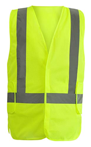 NYOrtho Breathable High-Visibility Safety Vest Reflective - Security Mesh Jacket | ANSI/ISEA Class 2 Compliant | Lightweight, Does Not Sweat | Strong Hook and Loop Closure - Won't Rip Open in Wind