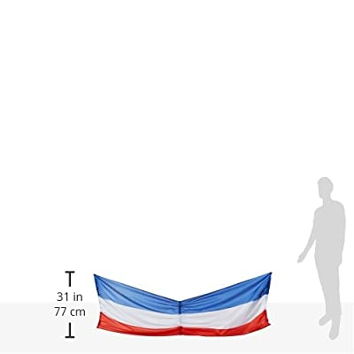 Patriotic Fabric Bunting (red, white, blue) Party Accessory (1 count) (1/Pkg): Childrens Party Decorations: Kitchen & Dining