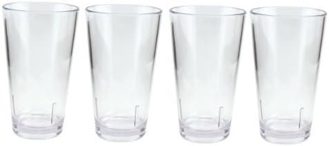 Acrylic Beer Pint Glasses Break Resistant 16 Oz Set Of 4 Amazon Co Uk Kitchen Home