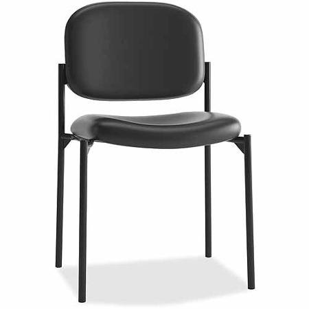 Basyx by HON Leather Guest Chair without Arms, Black by Supernon