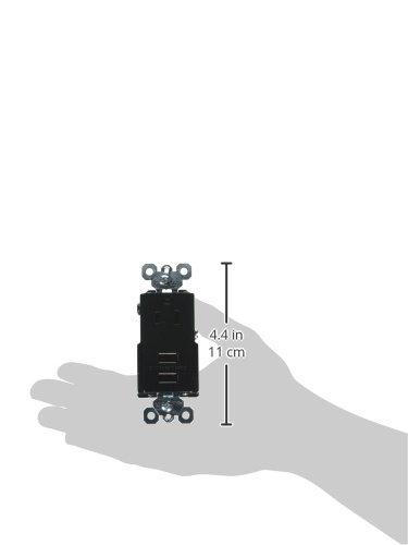 USB VISION Legrand-Pass /& Seymour TM8USBBKCCV4 DECORATOR COMBO RECEPT